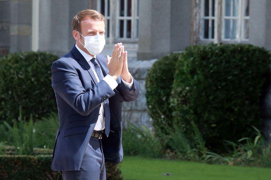 Emmanuel Macron au Touquet pour le second tour des municipales.