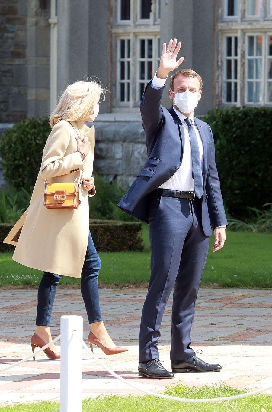 Emmanuel et Brigitte Macron au Touquet pour le second tour des municipales.