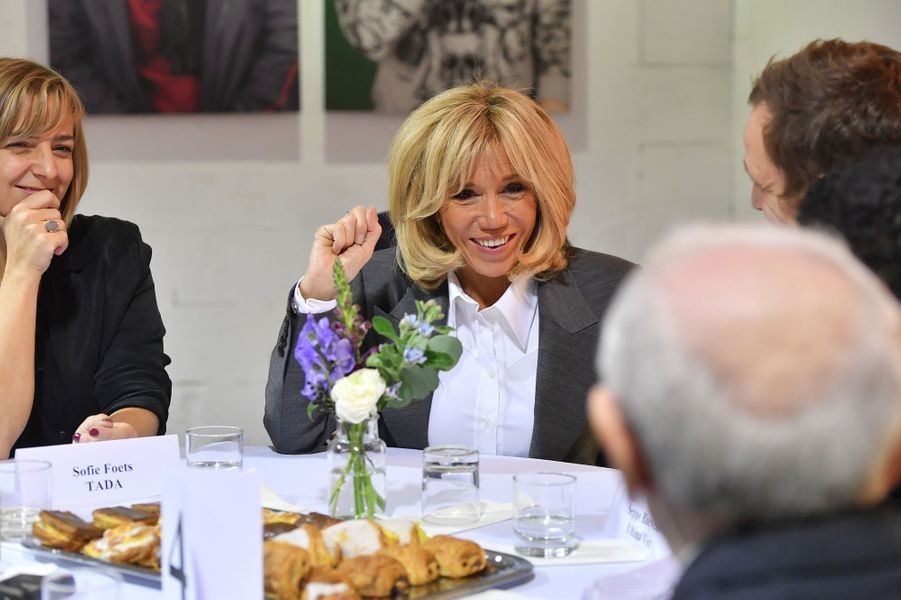 Brigitte Macron à Molenbeek.
