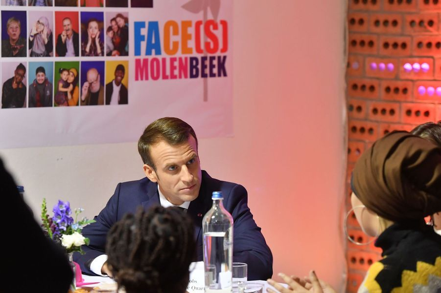 Emmanuel Macron à Molenbeek.