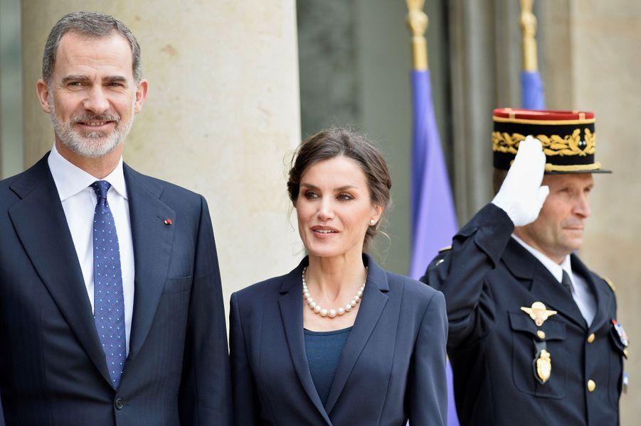 Le roi Felipe et la reine Letizia reçus à l'Elysée pour un déjeuner.