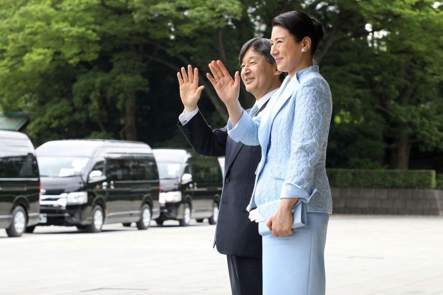 Le nouvel empereur du Japon, Naruhito, etl'impératrice Masako.
