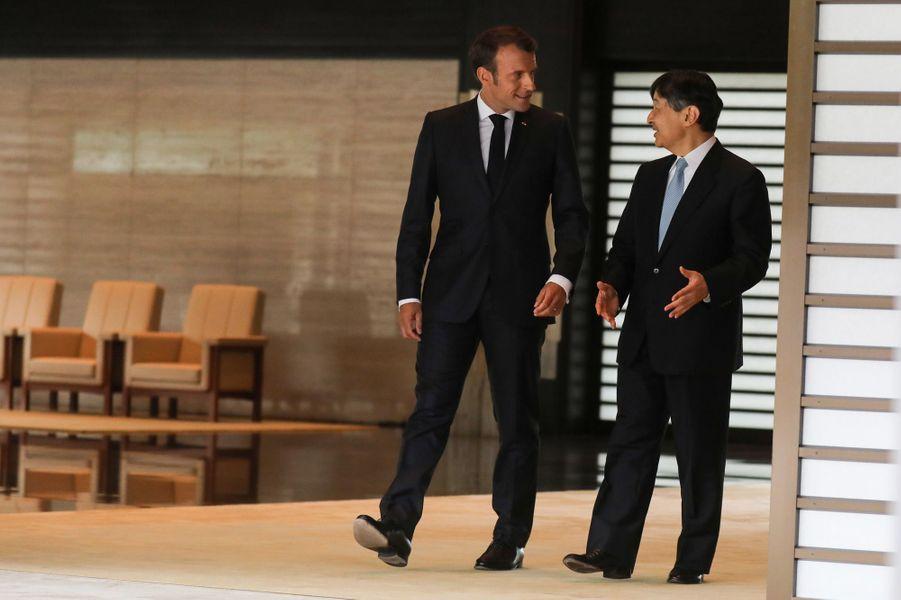 Naruhito du Japon et Emmanuel Macron.