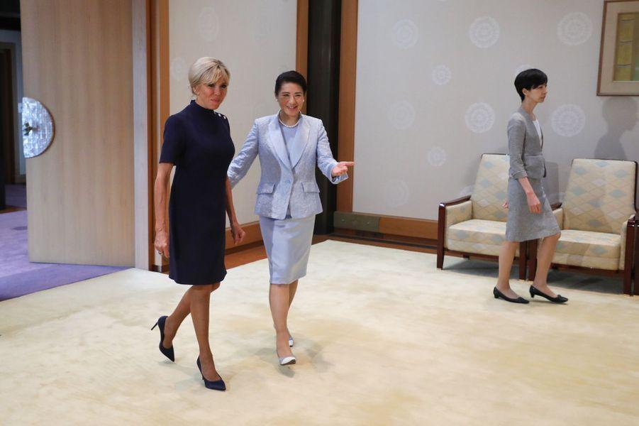 Brigitte Macron et l'impératrice Masako.