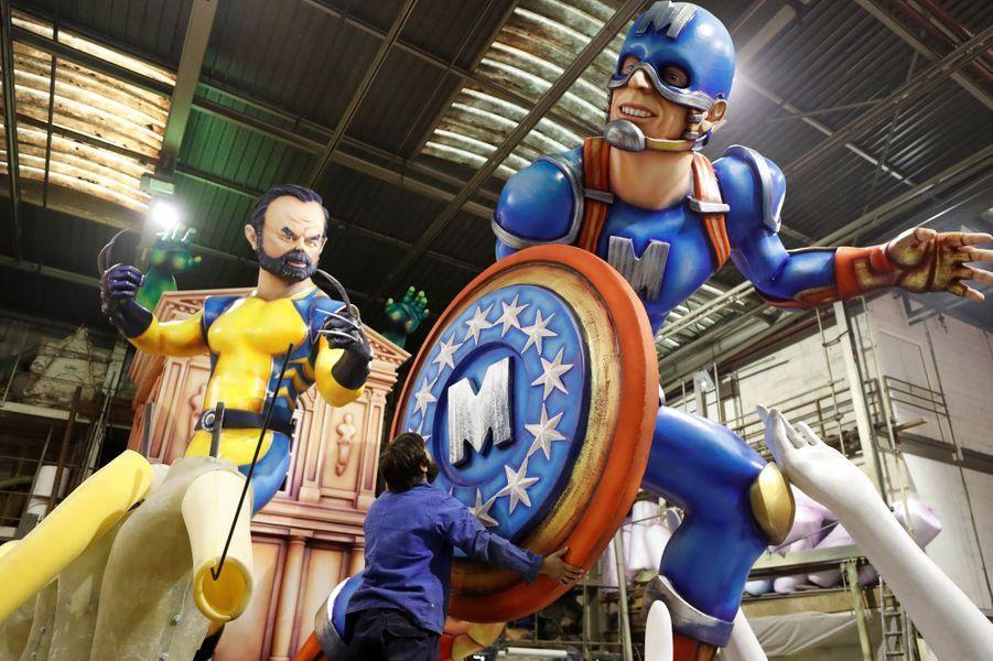 Edouard Philippe et Emmanuel Macron en super-héros.