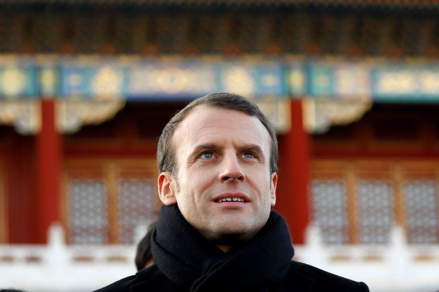 Emmanuel Macron mardi à la Cité interdite de Pékin.