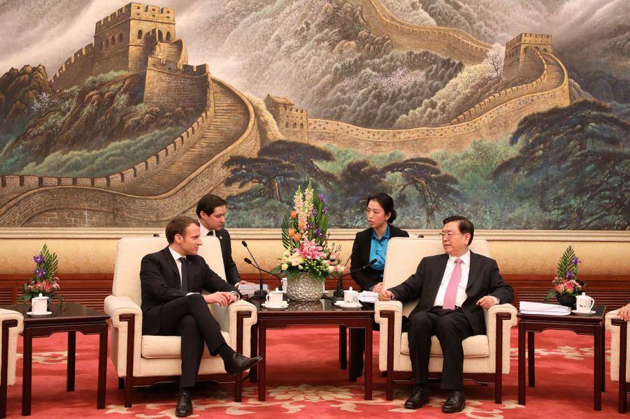 Rencontre à Pékin avec Zhang Dejiang,plus haut législateur chinois.