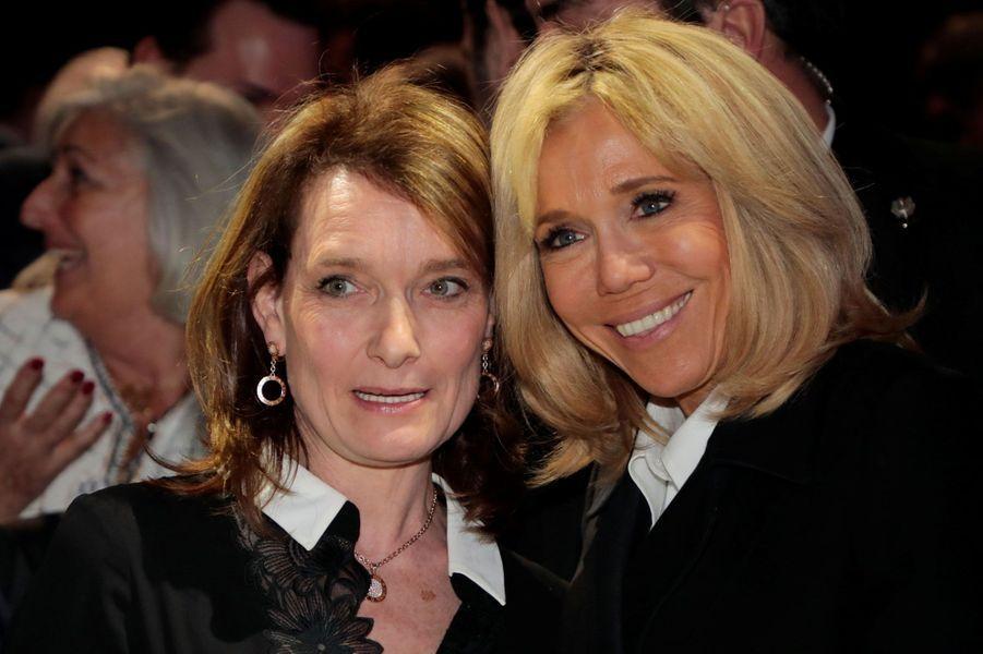 Brigitte Macron et l'ambassadrice d'Israël en France, Aliza Bin-Noun.