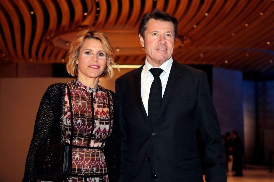 Christian Estrosi et Laura Tenoudji