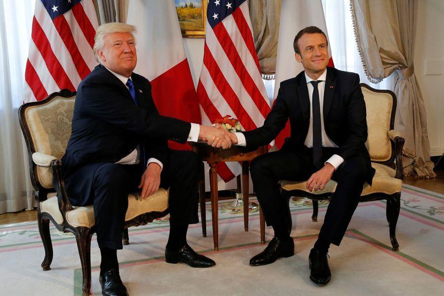 Rencontre entre Donald Trump et Emmanuel Macron à Bruxelles, jeudi en marge du sommet de l'Otan.