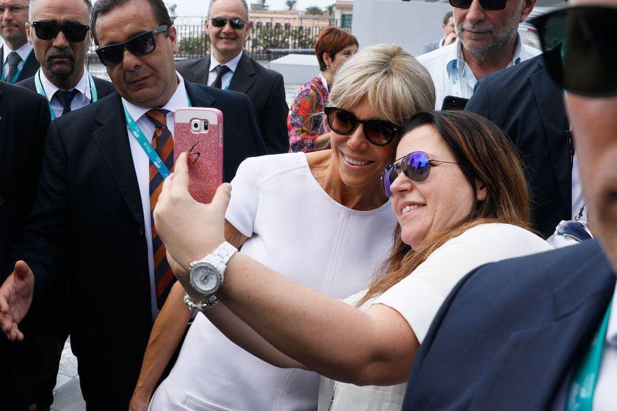 Brigitte Macron samedi à Taormine où se tient le G7.