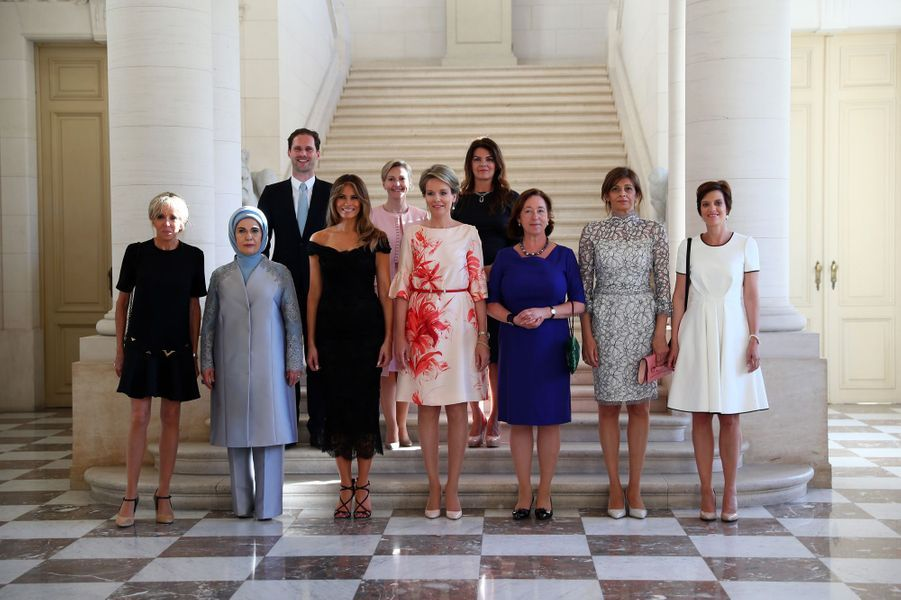Réception au Château de Laekenavec la reine Mathilde.