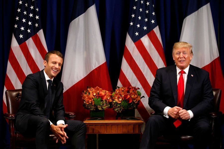 Emmanuel Macron rencontre Donald Trump à New York.