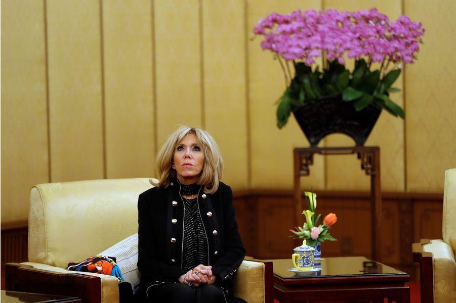 Brigitte Macron, à l'Hôtel Diaoyuta de Pékin.