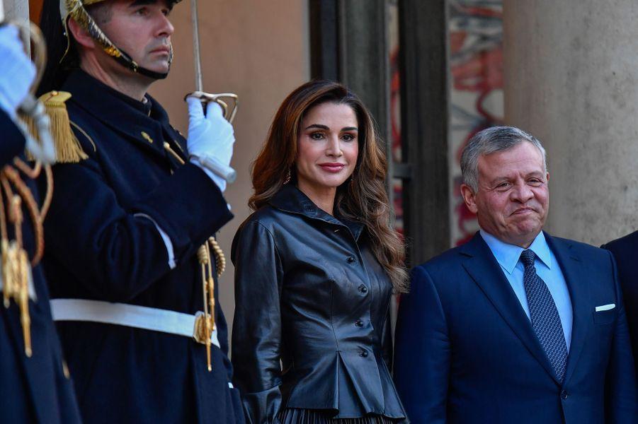 La reine Rania et le roi Abdallah II de Jordanie.