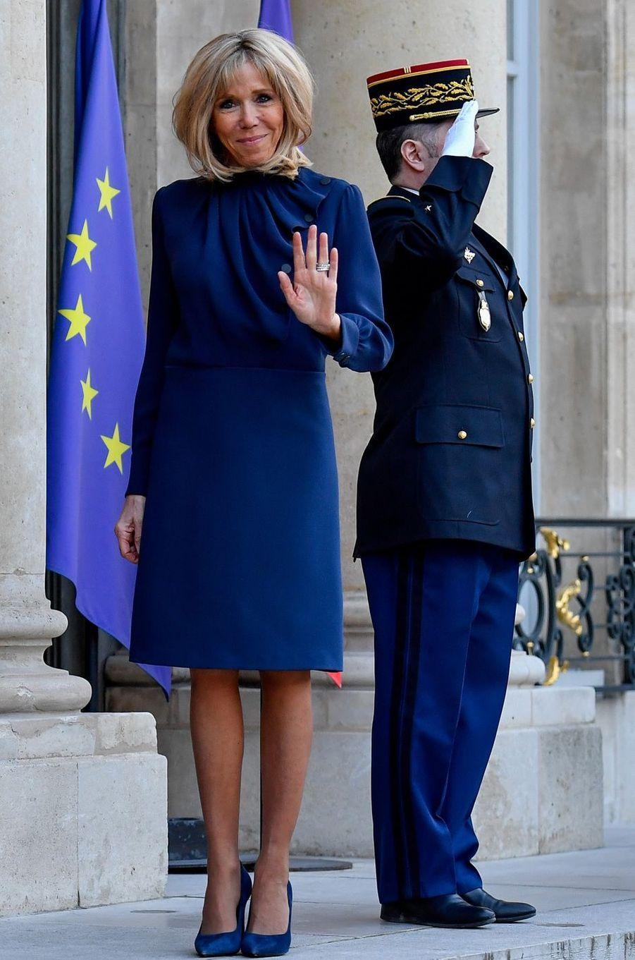 La Première dame Brigitte Macron.