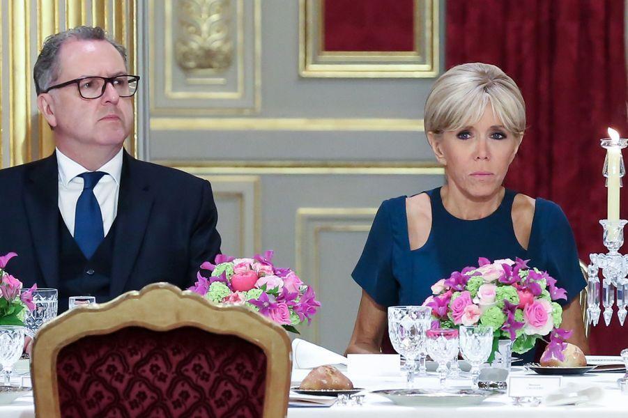 Brigitte Macron et Richard Ferrand.