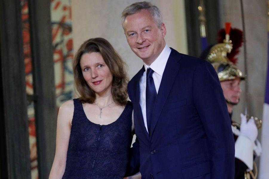 Bruno Le Maire et son épouse Pauline Doussau.