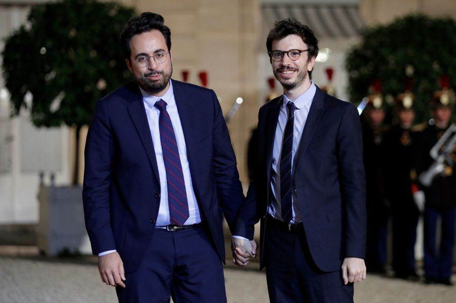 Mounir Mahjoubi et son compagnon Mickael Jozefowicz.