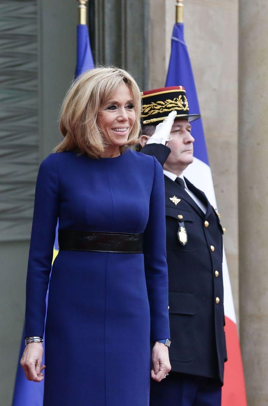 Brigitte Macron, lundi à l'Elysée.