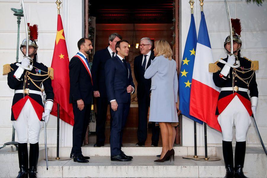 Emmanuel et Brigitte Macron dimancheà la villa Kérylos,à Beaulieu-sur-Mer.