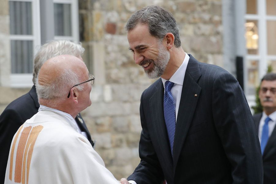 Le roi d'EspagneFelipe VI à Aix-la-Chapelle jeudi