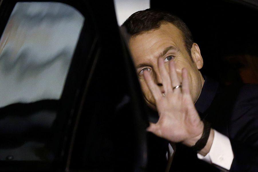 Arrivée en Inde d'Emmanuel Macron.