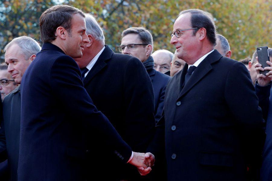 Emmanuel Macron etFrançois Hollande