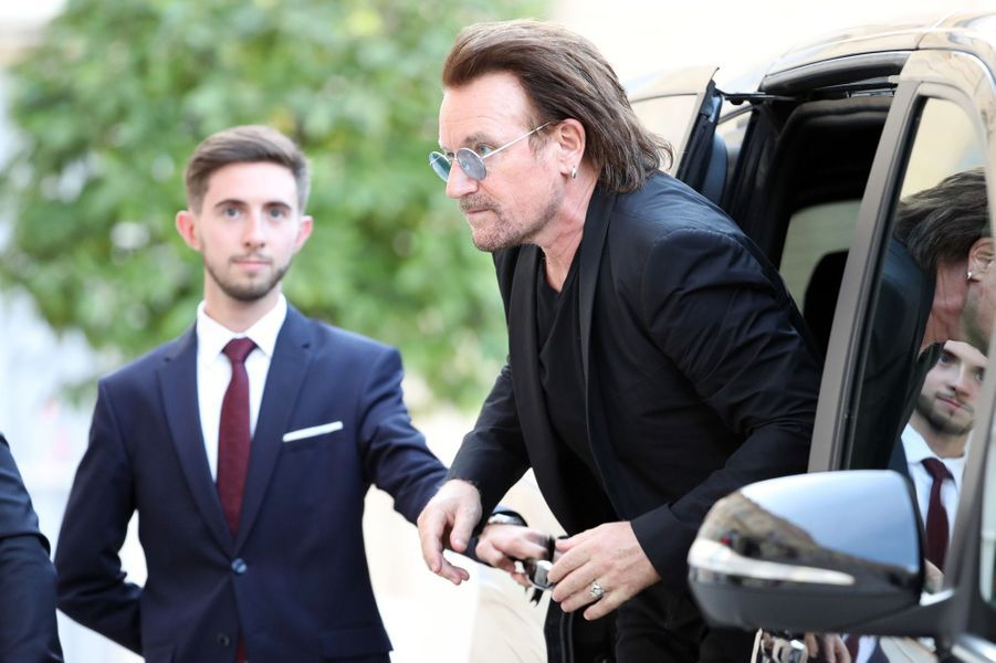 Bono lundi soir à l'Elysée.