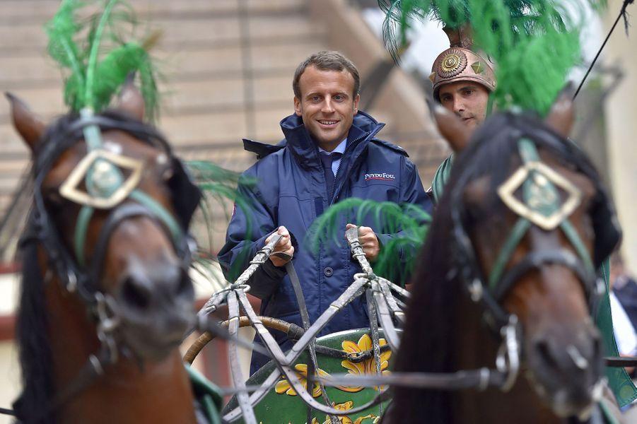 Emmanuel Macron au Puy du Fou