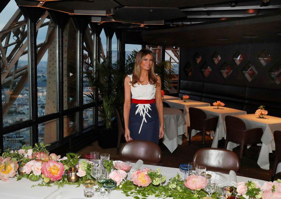 Melania Trump à la Tour Eiffel jeudi