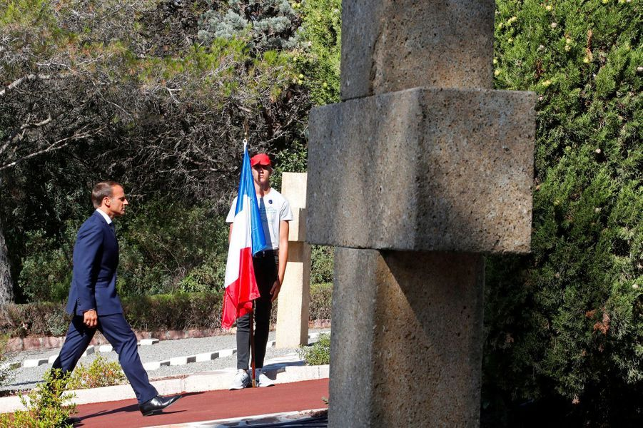 Emmanuel Macron à Boulouris-sur-Mer.