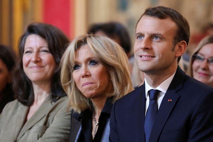 Brigitte et Emmanuel Macron à l'Elysée, le 25 novembre 2017.