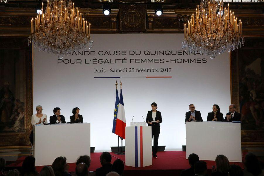Marlène Schiappa à l'Elysée, le 25 novembre 2017.
