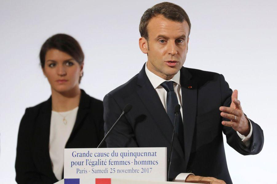 Emmanuel Macron à l'Elysée, le 25 novembre 2017.