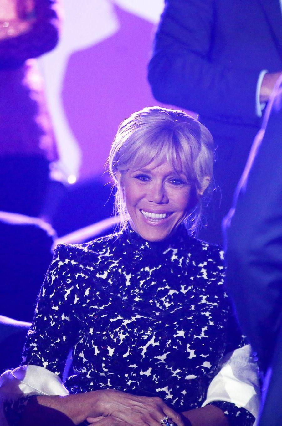 Brigitte Macron jeudi soir au concert hommage à Charles Aznavour, à Erevan.