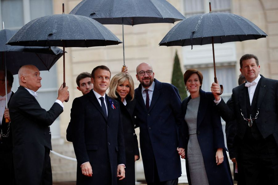 L'arrivée du Premier ministre belge Charles Michels