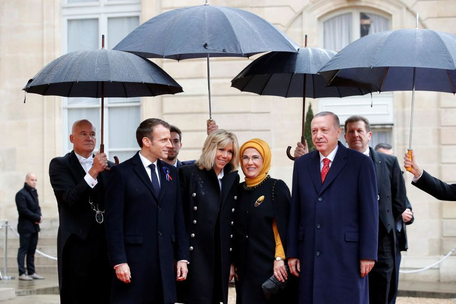 L'arrivée du président turc Recep Erdogan