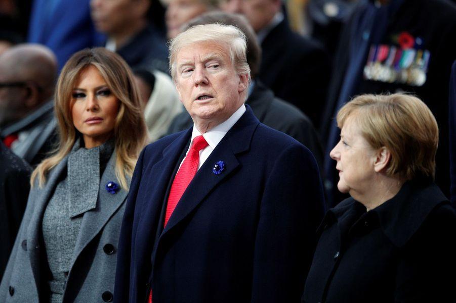 Melania Trump, Donald Trump et Angela Merkel