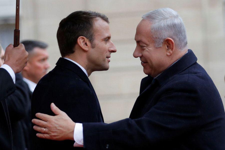 L'arrivée du Premier ministre israélien Benjamin Netanyahou