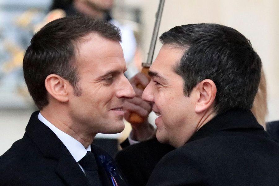 L'arrivée du Premier ministre grec Alexis Tsipras