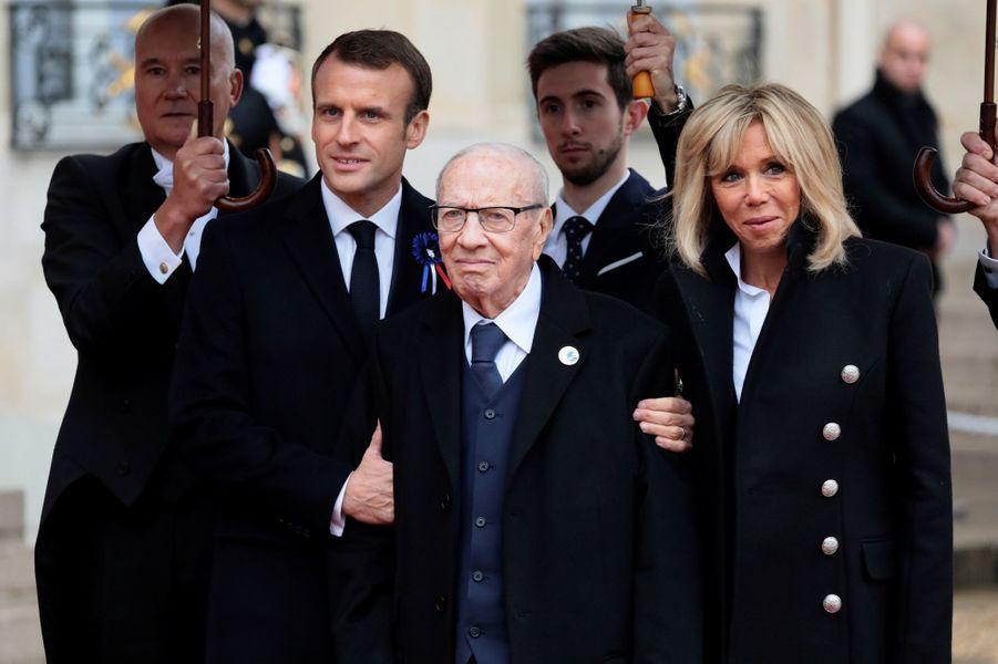 L'arrivée du président tunisienBeji Caid el Sebsi