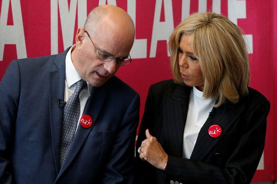 Jean-Michel Blanquer et Brigitte Macron.