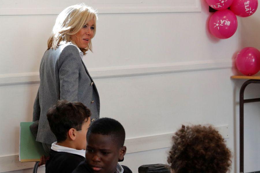 Brigitte Macron a participé lundi à la dictée annuelle organisée par l'Association ELA.