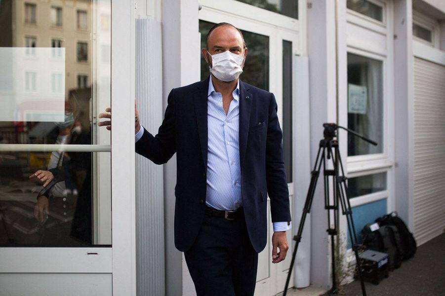 Edouard Philippe a voté dimanche au Havre.