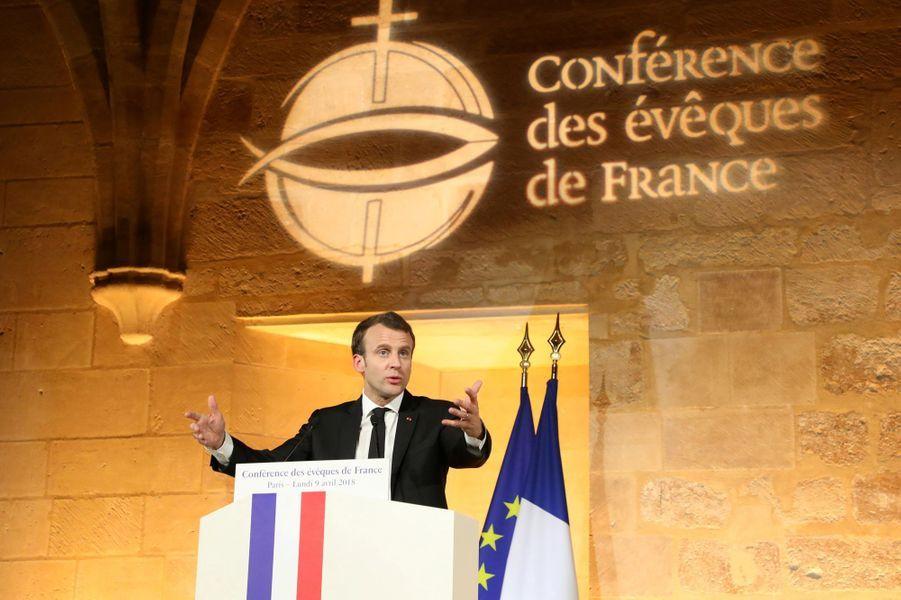 Discours d'Emmanuel Macron prononcé devant la conférence des évêques de France.