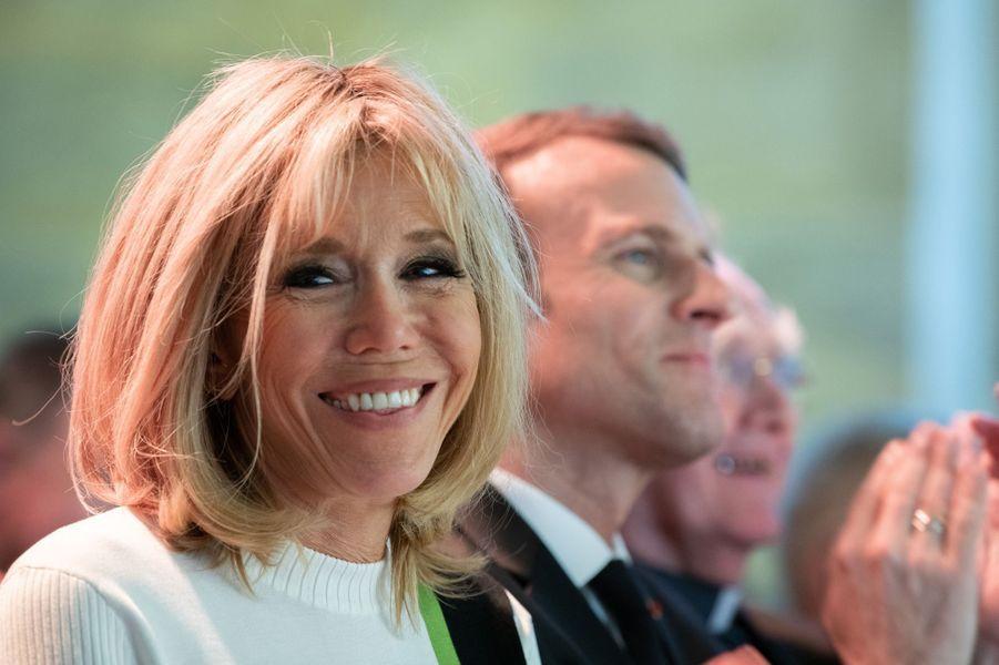 Brigitte Macron aucollège des Bernardins à Paris.