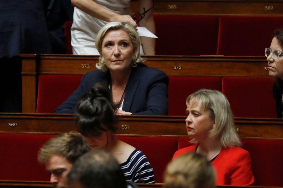 Marine Le Pen (Front national) à l'Assemblée nationale le 27 juin 2017.