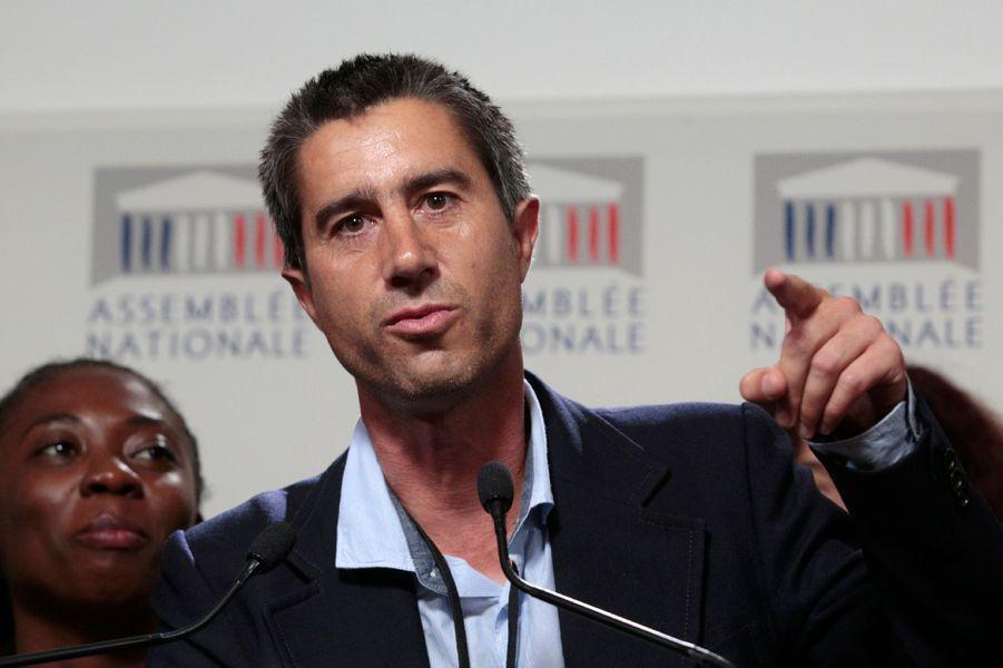 François Ruffin(La France insoumise) sans cravate à l'Assemblée nationale le 27 juin 2017.