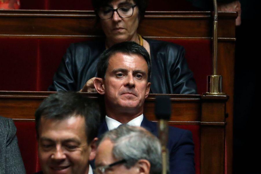 Manuel Valls (Parti socialiste) à l'Assemblée nationale.